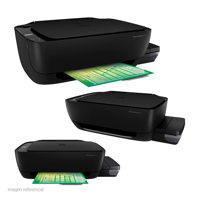 Imagen: Multifuncional de tinta HP Ink Tank Wireless 415, Imprime/Escáner/Copia, Wireless.