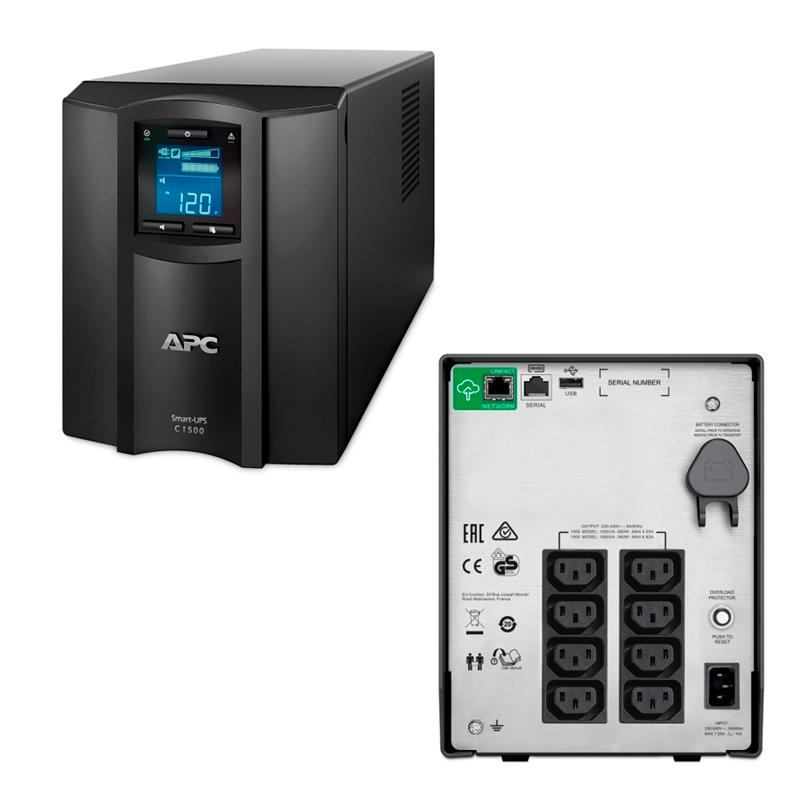 Imagen: UPS; APC AMERICAN POWER CONVER; SMART-UPS 1.5KVA 230V SMARTCON