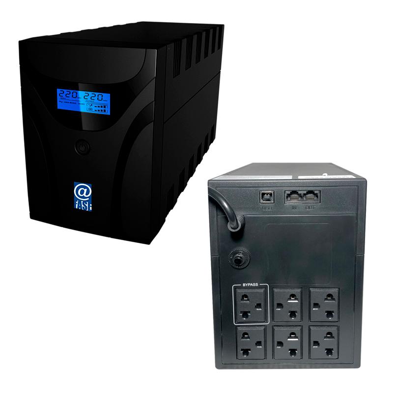 Imagen: UPS Interactivo Elise Fase, AUR-1200-LCD-USB, 1200 VA / 600 W, Puerto inteligente USB-HID.