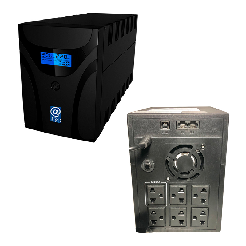 Imagen: UPS Interactivo Elise Fase, AUR-1500-LCD-USB, 1500 VA / 900 W, Puerto inteligente USB-HID.