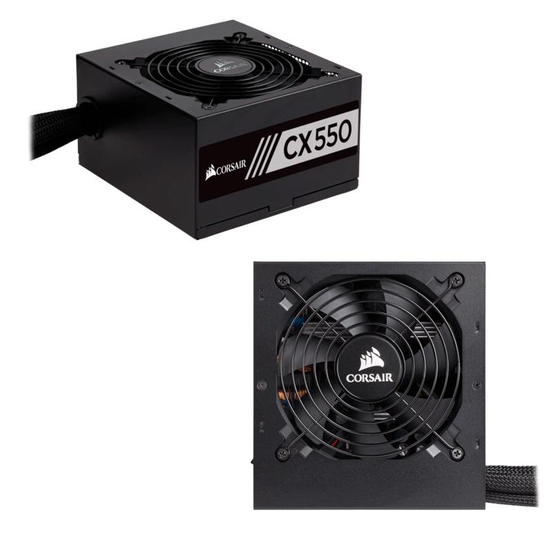 Imagen: Fuente de alimentación Corsair CX550 Series, 550W, ATX, 80 Plus Bronze.