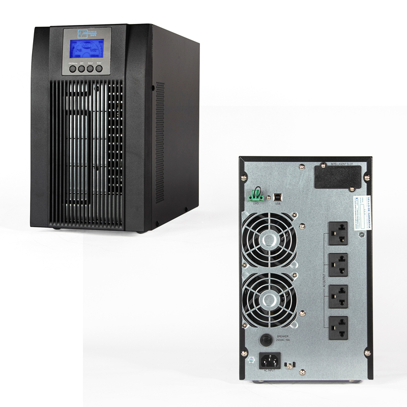 Imagen: UPS Elise UDC-2K-T-G2, On-Line, 2000 VA, 1800 W, 220VAC, Monofásico con tierra, USB.