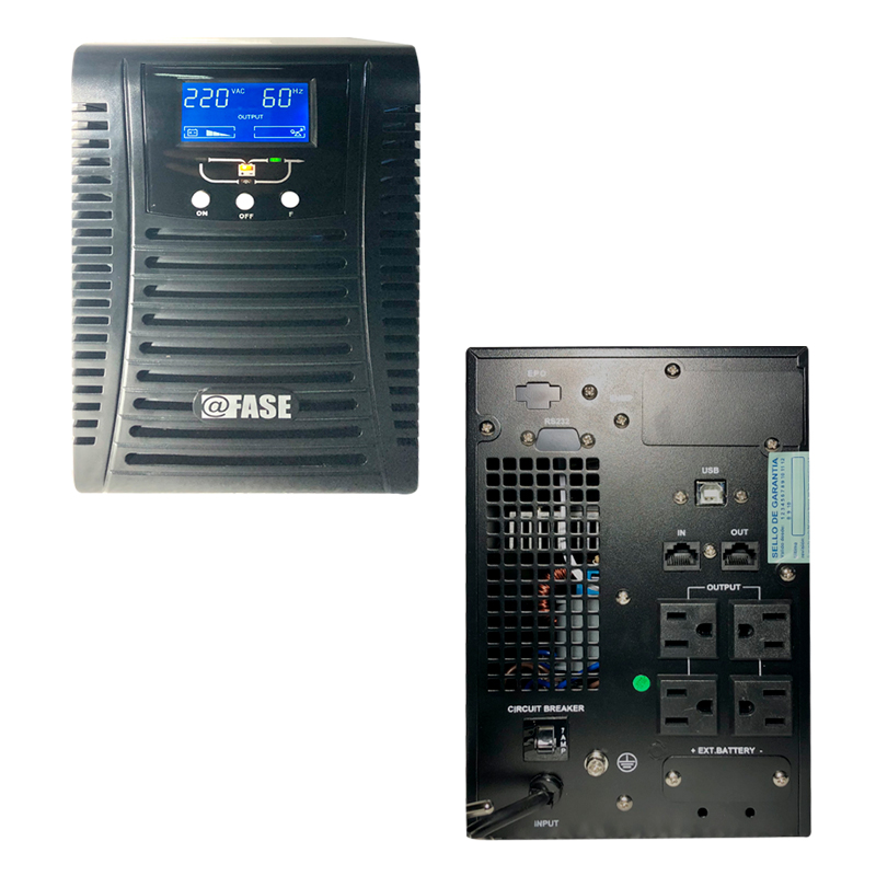 Imagen: UPS Elise Fase Online Serie Zen 1000VA / 900W / 4 tomas de salida NEMA 5-15 / RS232 / USB.