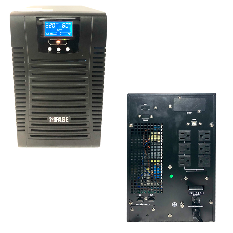 Imagen: UPS Elise Fase Online Serie Zen 2000VA / 1800W / 6 tomas de salida NEMA 5-15 / RS232 / USB