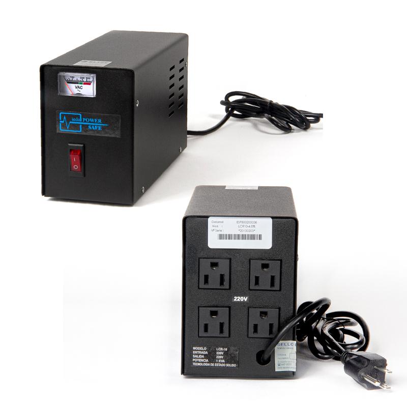 Imagen: Estabilizador Elise Ieda Poder Safe LCR15-4.5%, Solido, 1.5kVA, 220VAC, 4 tomas a 220VAC.