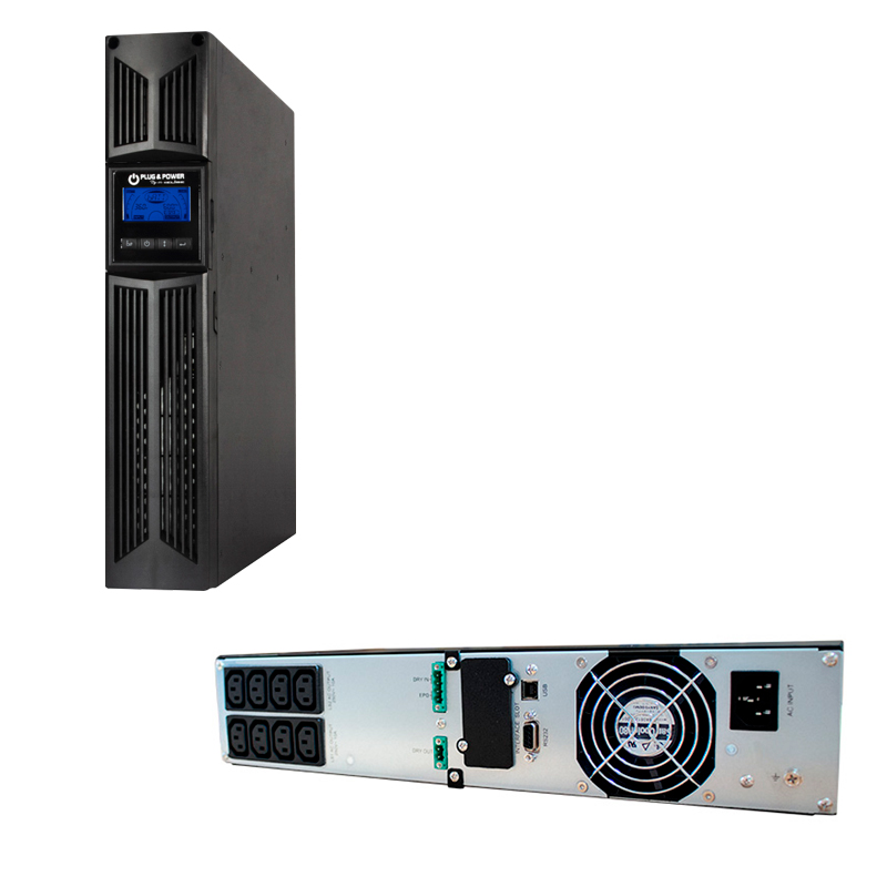 Imagen: UPS Elise Plug & Power URT-2K, On-Line, 2000VA, 1800W, 220V, DB-9 RS-232/USB.