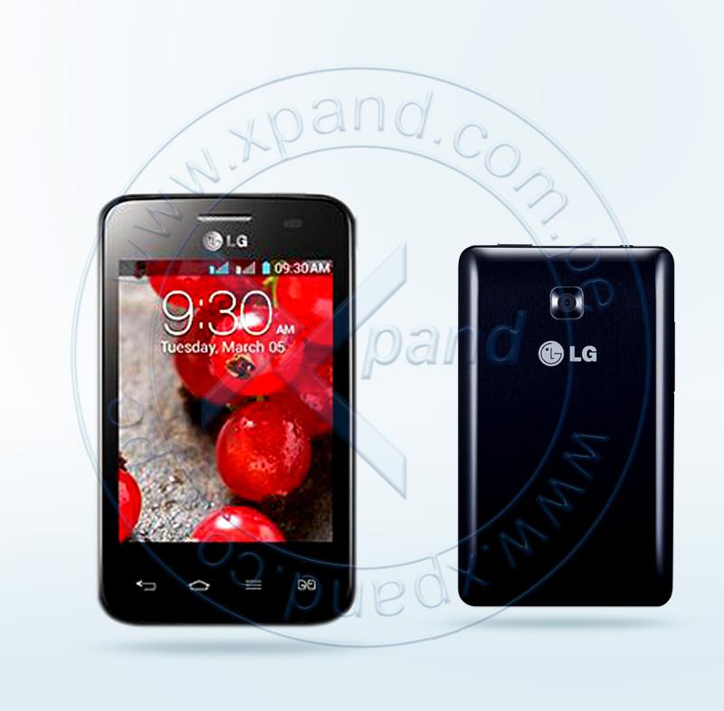 "Imagen: Smartphone LG L3II, Dual E435 , 3.2"" Touch 240x320, Android 4.1, Dual SIM, Desbloqueado."