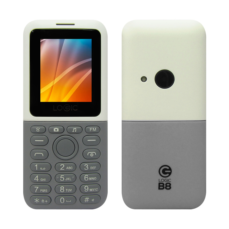 "Imagen: Teléfono celular básico Logic B8, 1.77"", 160x120, Dual SIM, Radio FM, Desbloqueado."