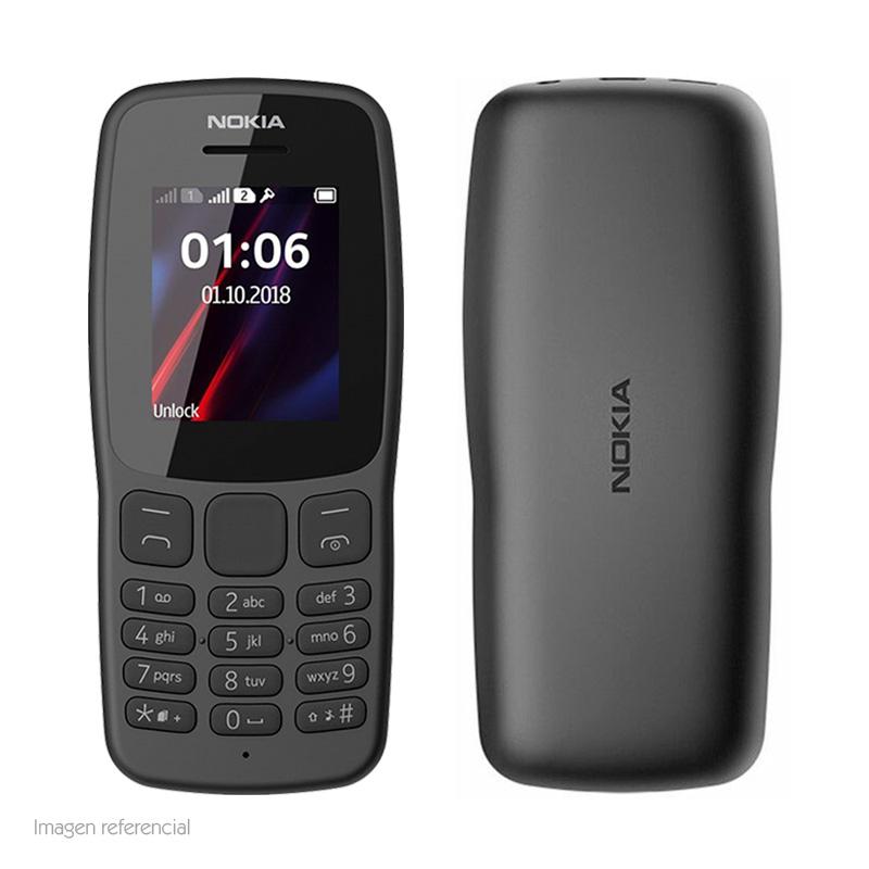 "Imagen: Teléfono celular básico Nokia 106, 1.8"", GSM, Radio FM, Desbloqueado."