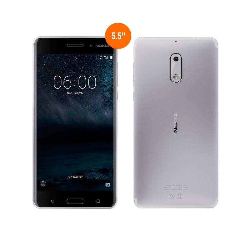 "Imagen: Smartphone Nokia 6, 5.5"" 1080x1920, Android 7.1, LTE, Dual SIM, Desbloqueado."