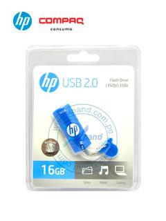 Memoria Flash USB HP c350, 16GB, USB 2.0, Azul, presentación en colgador.