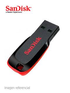 Memoria Flash USB SanDisk Cruzer Blade , 64GB, USB 2.0, presentación en colgador.