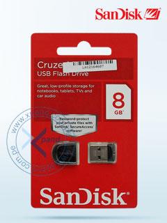 Memoria Flash USB SanDisk Cruzer, 8GB, USB 2.0, presentación en colgador.