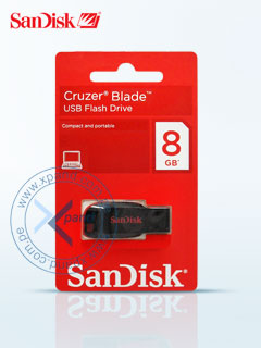 Memoria Flash USB SanDisk Cruzer Blade, 8GB, USB2.0, presentación en colgador.