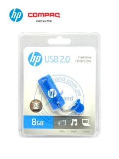 Memoria Flash USB HP c350, 8GB, USB 2.0, Azul, presentación en colgador.