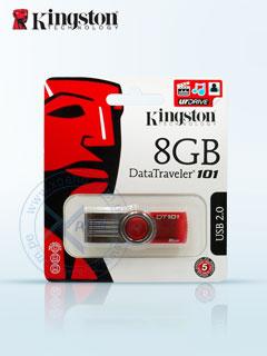 Memoria Flash USB Kingston DataTraveler 100 G2, 8GB, USB 2.0, Rojo.