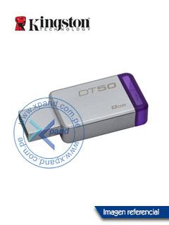 Memoria Flash USB Kingston DataTraveler 50, 8GB, USB 3.1 / 3.0, colgador.