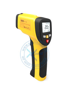 Termómetro infrarrojo digital Dr. Meter IR-40, -50º C hasta 650º C, Dual Laser, Display.