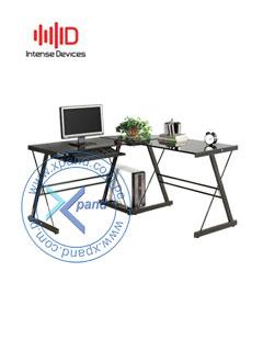 Escritorio para PC Intense Devices ID-DX402C, tablero de vidrio: 7mm, soporte de Metal.