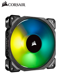 Fan Corsair Series ML120 Pro Led RGB, 12 cm, Levitación magnética, 1 600 RPM, 12VDC.