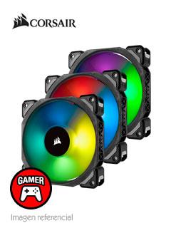 Fan Corsair ML120 Pro RGB Led, 12 cm, 1600 RPM, 13.2 VDC, 4 pines, PWM Control.