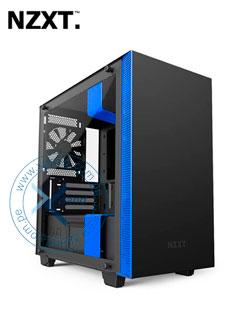 Case Gamer NZTX H400i, Mini Tower, Negro, USB 3.1 Gen1, Audio, Negro/Azul.