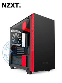 Case Gamer NZTX H400i, Mini Tower, Negro, USB 3.1 Gen1, Audio, Negro/Rojo.