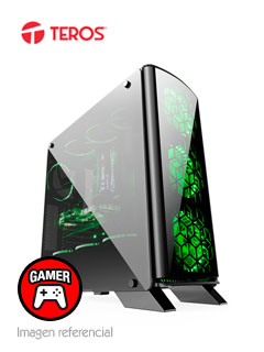 Case Gamer Teros Darkseid, Mid Tower, Negro, USB 3.0, USB 2.0, Audio.
