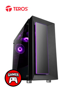 Case Gamer Teros Orion, Mid Tower, Negro Mate, USB 3.0, USB 2.0, Audio.