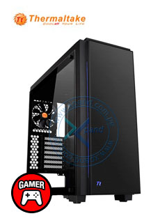 Case Thermaltake Versa C23 Tempered Glass RGB Edition, MidTower, Negro, USB 3.0, Audio.