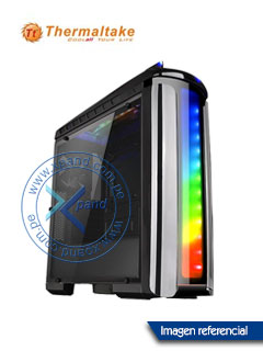 Case Thermaltake Versa C22 RGB, Mid Tower, ATX, Window Transparent, Negro.