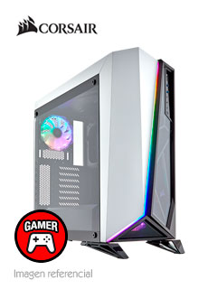 Case Gamer Corsair Spec Omega RGB, Mid Tower, ATX, Blanco, USB 3.0, Audio