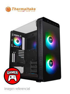 Case Thermaltake View 37 RGB, Mid Tower, negro, Panel lateral Transparente Tipo L.