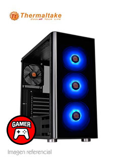 Case Thermaltake V200 Tempered Glass RGB Edition, Mid Tower, Negro, USB 3.0, Audio.