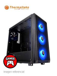 Case Thermaltake Versa J23 Tempered Glass RGB Edition, Mid Tower, Negro, USB 3.0, Audio.