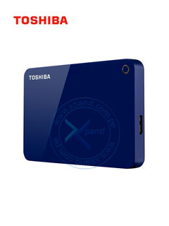 "Disco duro externo Toshiba Canvio Advance, 2TB, USB 3.0, 2.5"", Azul."