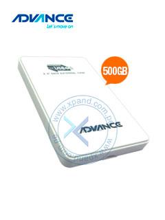 "Disco duro Externo Advance HDE500, USB 3.0, 500GB, 2.5"", Blanco."