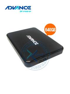"Disco duro Externo Advance HDE640, USB 3.0, 640GB, 2.5"", Negro."