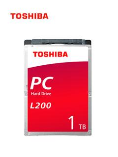 """Disco duro Toshiba L200, 1TB SATA 6.0Gb/s, 5400 RPM, 128MB Cache, 2.5"""", 7mm."""
