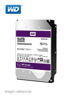 "Disco duro Western Digital Purple Surveillance, 10TB, SATA 6.0 Gbps, 7200 RPM, 3.5""."