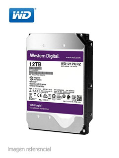 "Disco duro Western Digital WD121PURZ, 12TB, SATA 6.0 Gb/s, 7200 RPM, 3.5""."