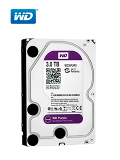"Disco duro Western Digital Purple Surveillance, 3TB, SATA 6.0 Gbps, 5400RPM, 64MB, 3.5""."