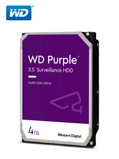 "Disco duro Western Digital Purple Surveillance, 4TB, SATA 6.0 Gbps, 5400 RPM, 3.5""."