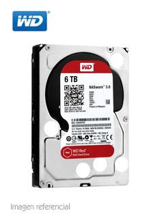 """Disco duro Western Digital WD60EFAX, 6TB, SATA 6.0 Gb/s, 5400 RPM, 3.5""""."""