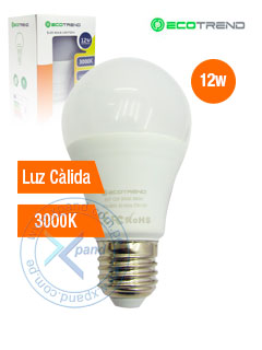 BULB LIGHT 12W ALUMINUM 3000K