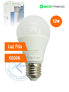 BULB LIGHT 12W ALUMINUM 6000K