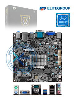 Motherboard ECS BSWI-D2-J3, Intel Celeron J3060 1.60GHz, DDR3, SATA 6.0, USB 3.0