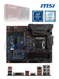 MB MS B250 GAMING M3 SVL DDR4