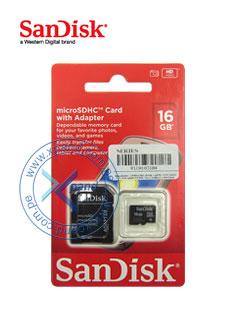 MICROSD CARD CL4 16GB SANDISK