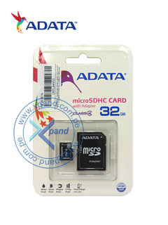 Memoria Flash microSDHC Adata Class 4 UHS-I, 32 GB, con adaptador SD.